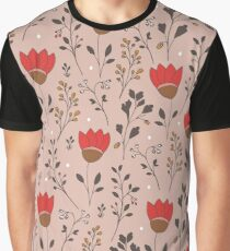 Blooming tulips field Graphic T-Shirt