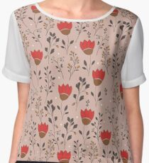 Blooming tulips field Women's Chiffon Top