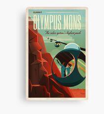 Vintage Adventure Travel Olympus Mons Canvas Print