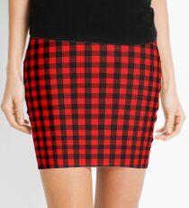 Mini Red and Black Buffalo Check Plaid Tartan Mini Skirt
