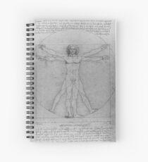 Leonardo da Vinci Study of Vitruvian Man Life Study of Perfect Proportionality Spiral Notebook