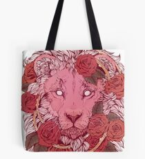 Lion of Roses Tote Bag