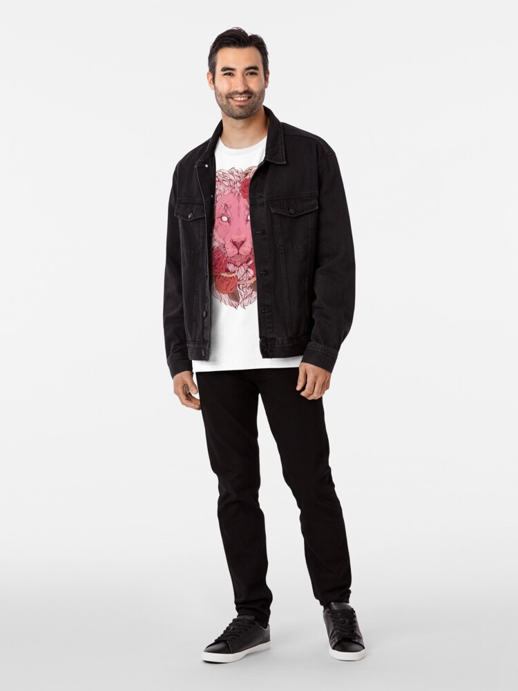 Alternate view of Lion of Roses Premium T-Shirt