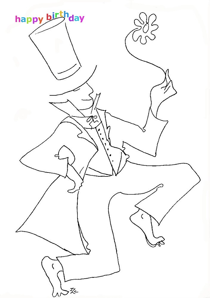 birthday tophat by jcro