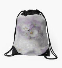 Pastel Pansies Still Life Drawstring Bag