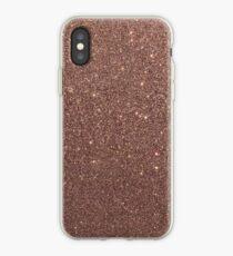 Bronze Gold Burnished Metallic Brown Glitter iPhone Case