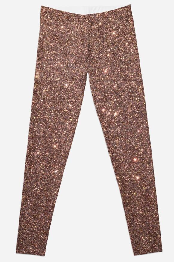 Bronze Gold Burnished Metallic Brown Glitter by podartist