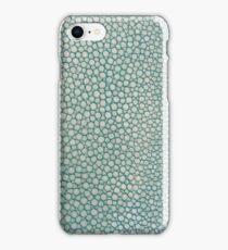 Green Shagreen Stingray Simulated Skin iPhone Case/Skin
