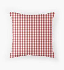 Designer Fall Color Trends 2016 - Aurora Red Gingham Check Throw Pillow