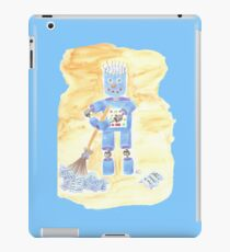 Blue Robot on Blue iPad Case/Skin
