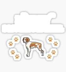 Love My Brittany Spaniel  Sticker