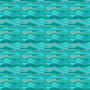 Aqua Ocean Waves  by Delights