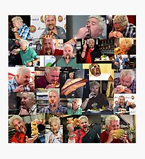 50 Shades of Guy Fieri Flavortown Food Collage Funny FULL SIZE Photographic Print
