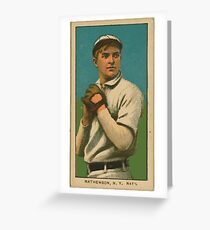 Benjamin K Edwards Collection Christy Mathewson New York Giants baseball card portrait 001 Greeting Card