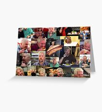 50 Shades of Guy Fieri Flavortown Food Collage Small Size Greeting Card