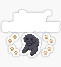 Love My Schnoodle  Sticker