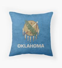 Vintage Oklahoma State Flag Throw Pillow