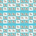 Mix and match Swiss cow pattern by iCraftCafe