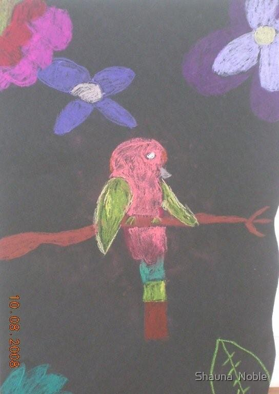 PARROT BY ELLEN (my clever niece) by Shauna  Noble