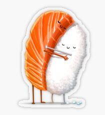 Sushi-Umarmung Transparenter Sticker