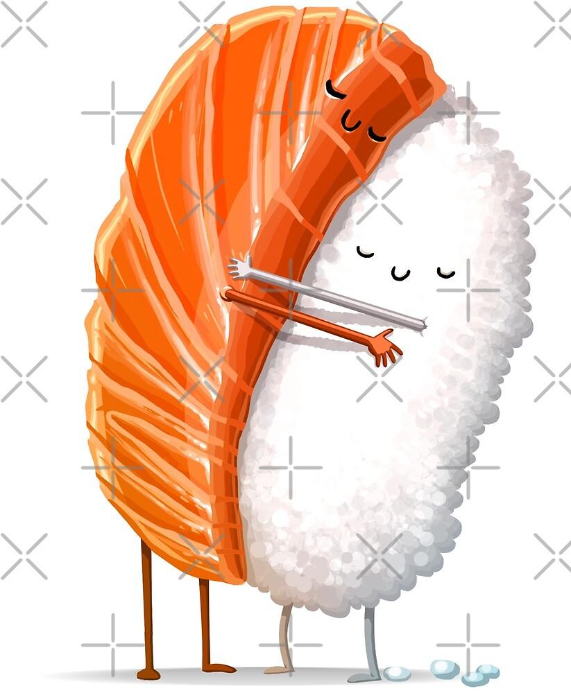 Sushi-Umarmung von andremuller