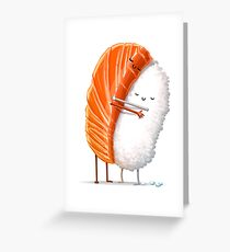 Sushi Hug Greeting Card