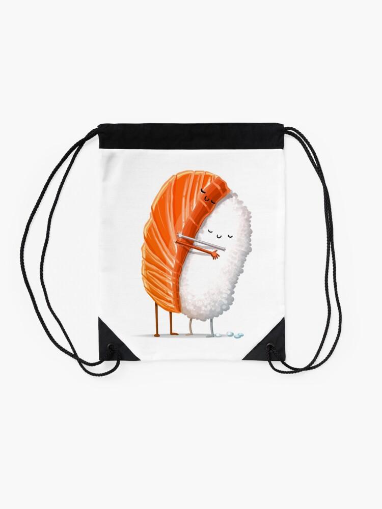 Alternate view of Sushi Hug Drawstring Bag