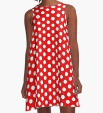 Polka Dots A-Line Dress