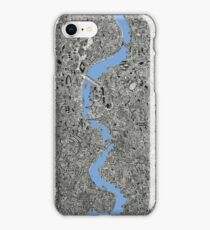 London map drawing Thames illustration portrait iPhone Case/Skin