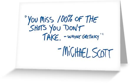 The office michaels quote greeting cards by shafer redbubble the office michaels quote by shafer m4hsunfo