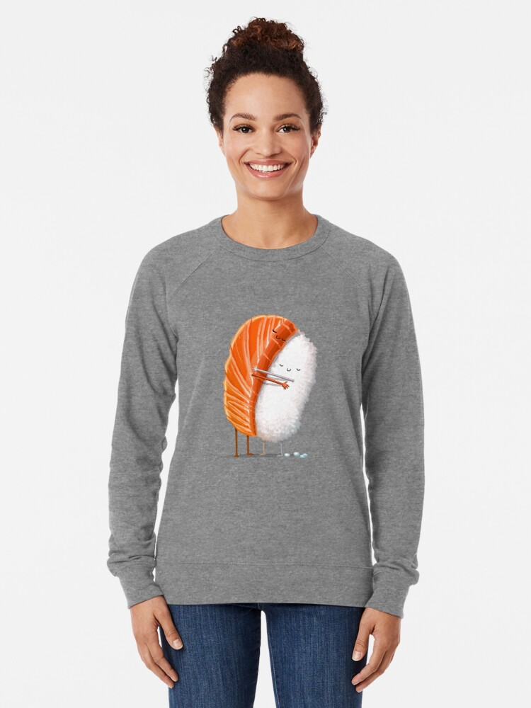 Alternate view of Sushi Hug Lightweight Sweatshirt