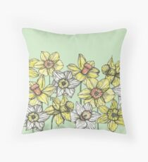 Field of Daffodils Throw Pillow