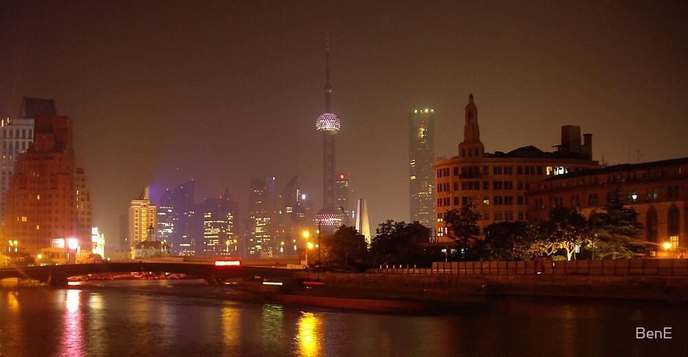 Shanghai by night by BenE
