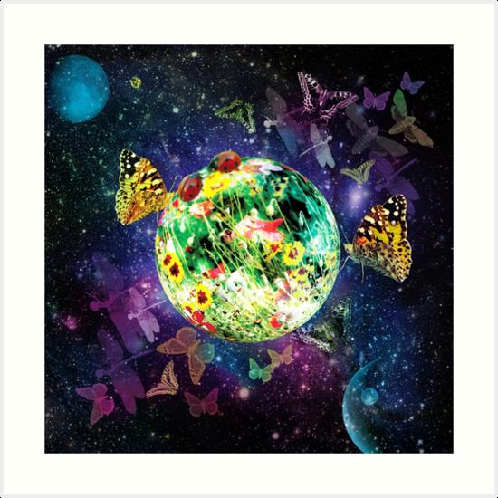 Little Fantasy World Planet of Butterflies by Margarita-Art