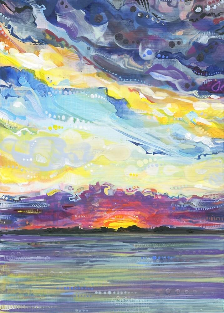 Sunset Painting (Peaceful) - 2017 by Gwenn Seemel