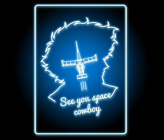 Neon Weltraum Cowboy von DonnieArts
