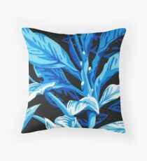 Graphic Plant Throw Pillow