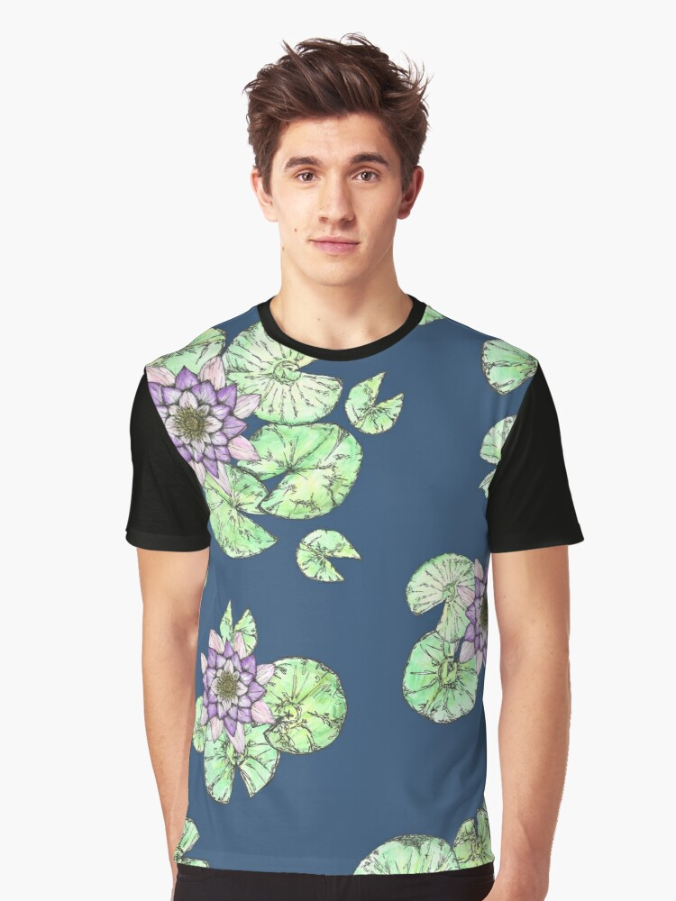 Waterlilies Graphic T-Shirt Front