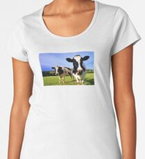 Earthworm Jim Groovy Cows Women's Premium T-Shirt