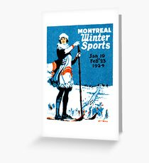 1924 Montreal Winter Sports Greeting Card