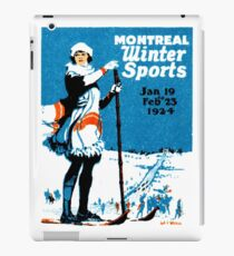 1924 Montreal Winter Sports iPad Case/Skin