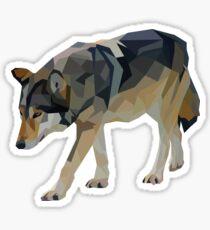 Crystalline Timber Wolf Sticker
