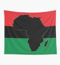 Symbol of Africa - Pan African Flag Wall Tapestry