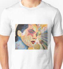Abstract Girl Portrait Art Original Painting / Honestly Speaking T-Shirt