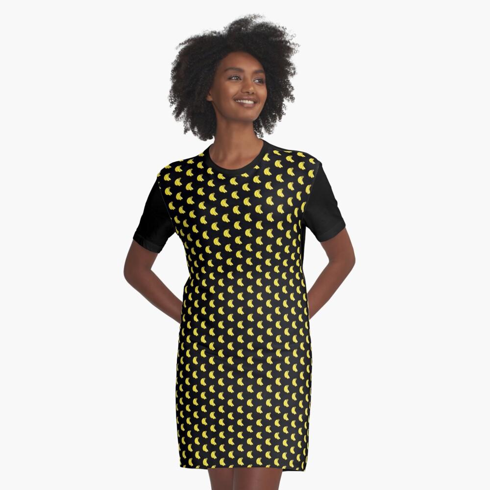 Go Bananas - Banana Pattern Mini Skirt Scarf Dress Duvet Bag Graphic T-Shirt Dress Front
