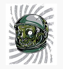 Space Zombie in Spacesuit & Helmet Trendy Street Wear Design Photographic Print