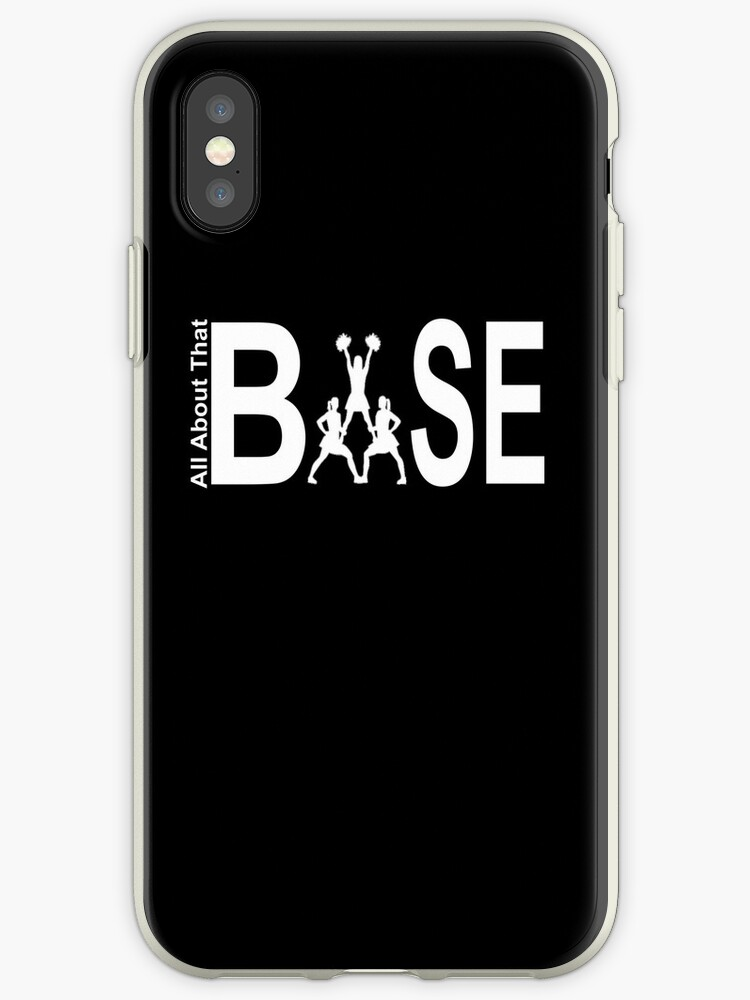 reputable site ede18 a8d8c 'IBase Cheer All About That Base For Cheerleading Stunt Group' iPhone Case  by amtsales