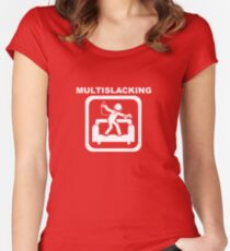 Multislacking - White Women's Fitted Scoop T-Shirt