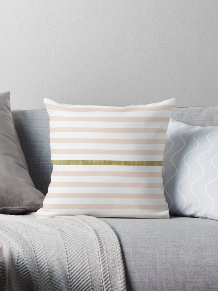 Peach White Gold Stripes by pencreations