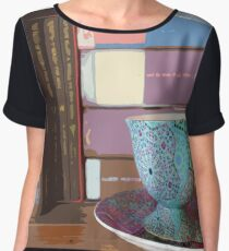Books and Tea Women's Chiffon Top